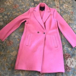 J.Crew Pink Wool Coat
